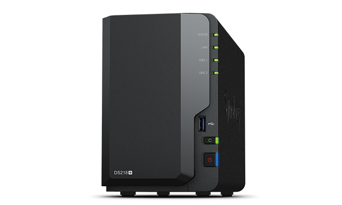 Synology  DC 2,0GhzCPU/2GB(upto6)/RAID0,1/up to 2HDDs SATA(3,5' 2,5')/3xUSB3.0/1eSATA/1GigEth/iSCSI/2xIPcam(up to 25)/1xPS /2YW(repl DS216+II)