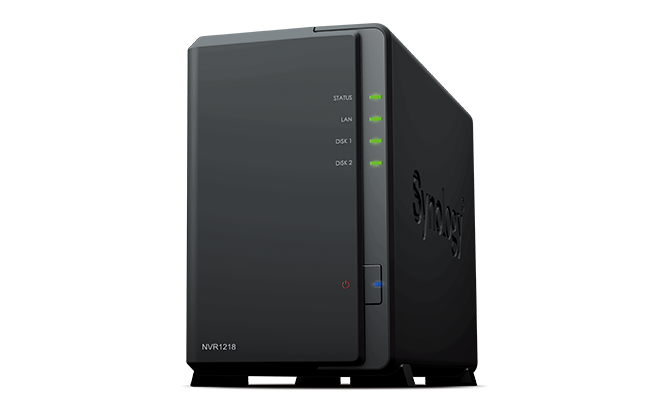 Synology PC-Less Surveillance Solution, HDMI 1080p, RAID0,1,5,6/up to 2HDDs SATA(3,5')(up to 7 with DX517)/1x USB 3.0, 2x USB2.0/1xCOM/4 IP cam(up to 12)/1xGigabit LAN/3YW