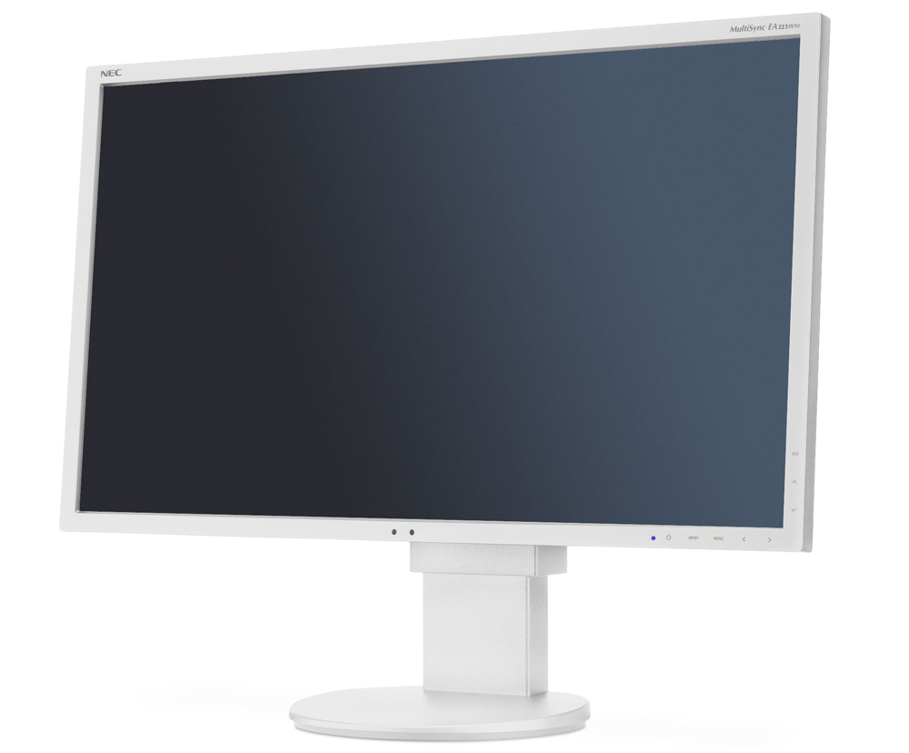 "NEC 22"" EA223WM LCD S/Wh ( TN; 16:10; 250cd/m2; 1000:1; 5ms; 1680x1050; 170/160; D-sub; DVI-D; DP; USB; HAS 130mm; Tilt; Swiv 170/170; Pivot; Human Sensor; Spk 2х1W )"