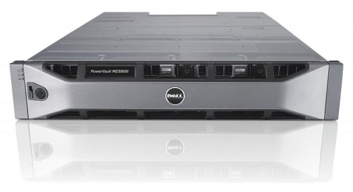 Dell PowerVault MD3800i iSCSI 10GBs 12xLFF Dual Controller 4GB Cache/ no HDD UpTo12LFF/ 2x600W RPS/ need upgrade firmware Controller/ Bezel/ Static ReadyRails II/ 3YPSNBD (210-ACCO)