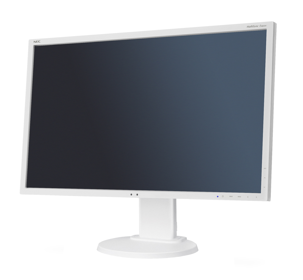 "NEC 22"" E223W LCD S/Wh ( TN; 16:10; 250cd/m2; 1000:1; 5ms; 1680x1050; 170/160; D-sub; DVI-D; DP; HAS 110mm; Tilt; Swiv 45/45; Pivot)"