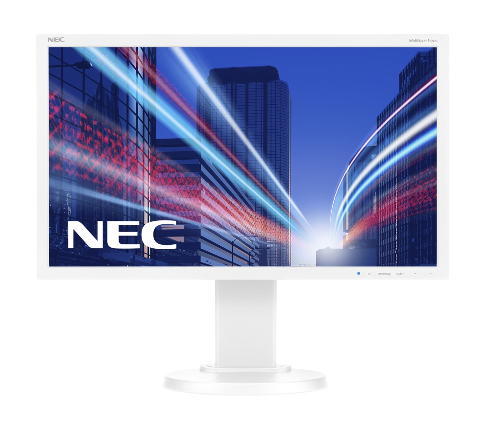 "NEC 21.5"" E224Wi LCD S/Wh ( IPS; 16:9; 250cd/m2; 1000:1; 6ms; 1920x1080; 178/178; D-Sub; DVI-D; DP; HAS 110mm; Tilt; Swiv 45/45; Pivot )"