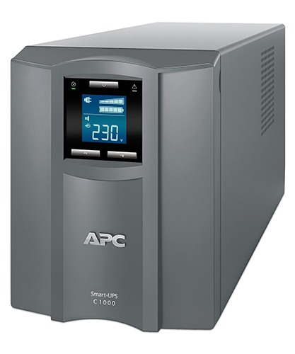 APC Smart-UPS C 1000VA/600W, 230V, Line-Interactive, Out: 220-240V 8xC13, LCD, Gray, 1 year warranty, No CD/cables